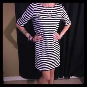 Dresses & Skirts - Navy & White striped Dress
